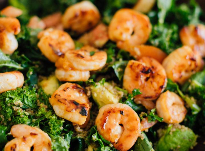 Blogger Eva Amurri shares her Apricot-Glazed Shrimp & Quinoa Salad Recipe