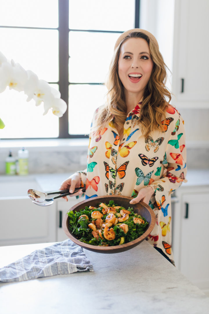 Blogger Eva Amurri shares her Apricot-Glazed Shrimp & Quinoa Salad Recipe