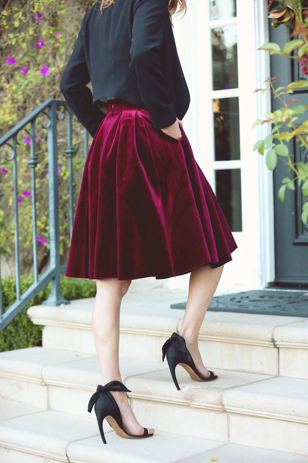 3 Ways The Velvet Pleated Skirt Happily Eva After
