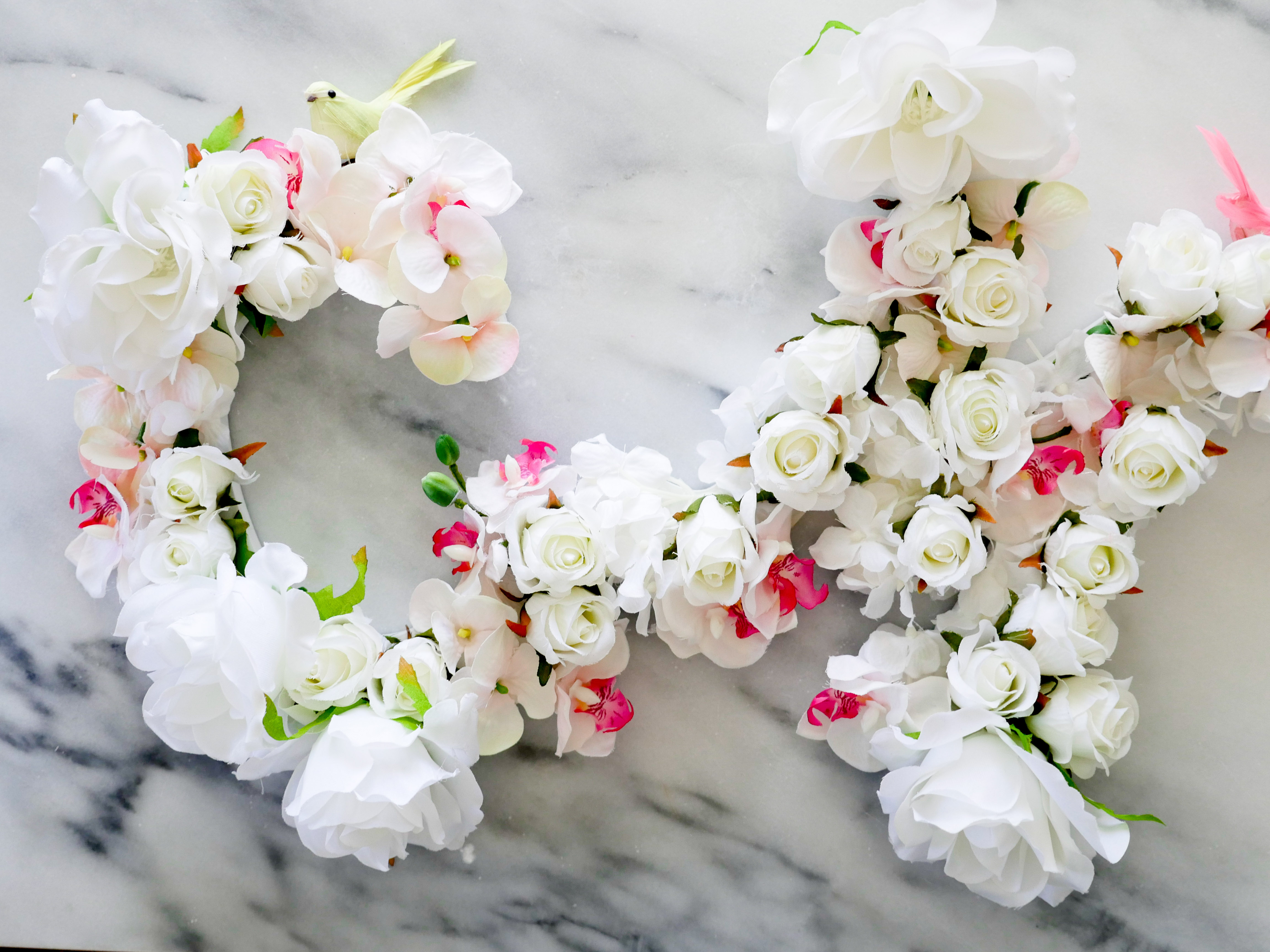 Diy Flower Letters Happily Eva After