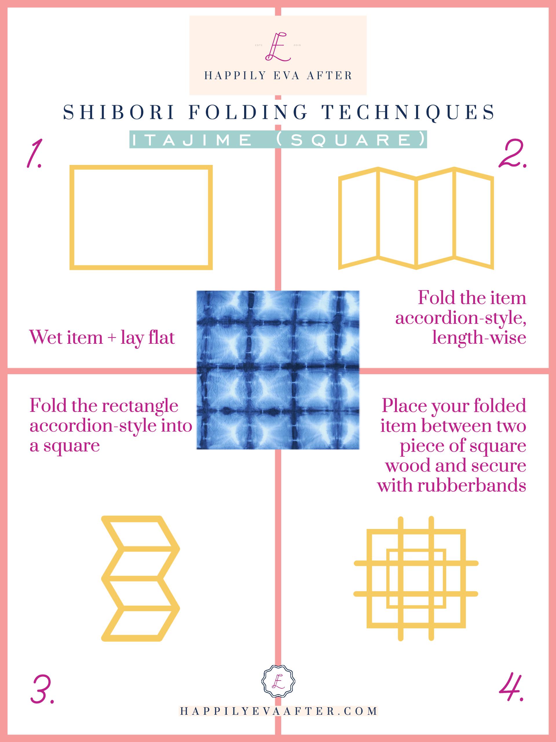 itajime square shibori technique