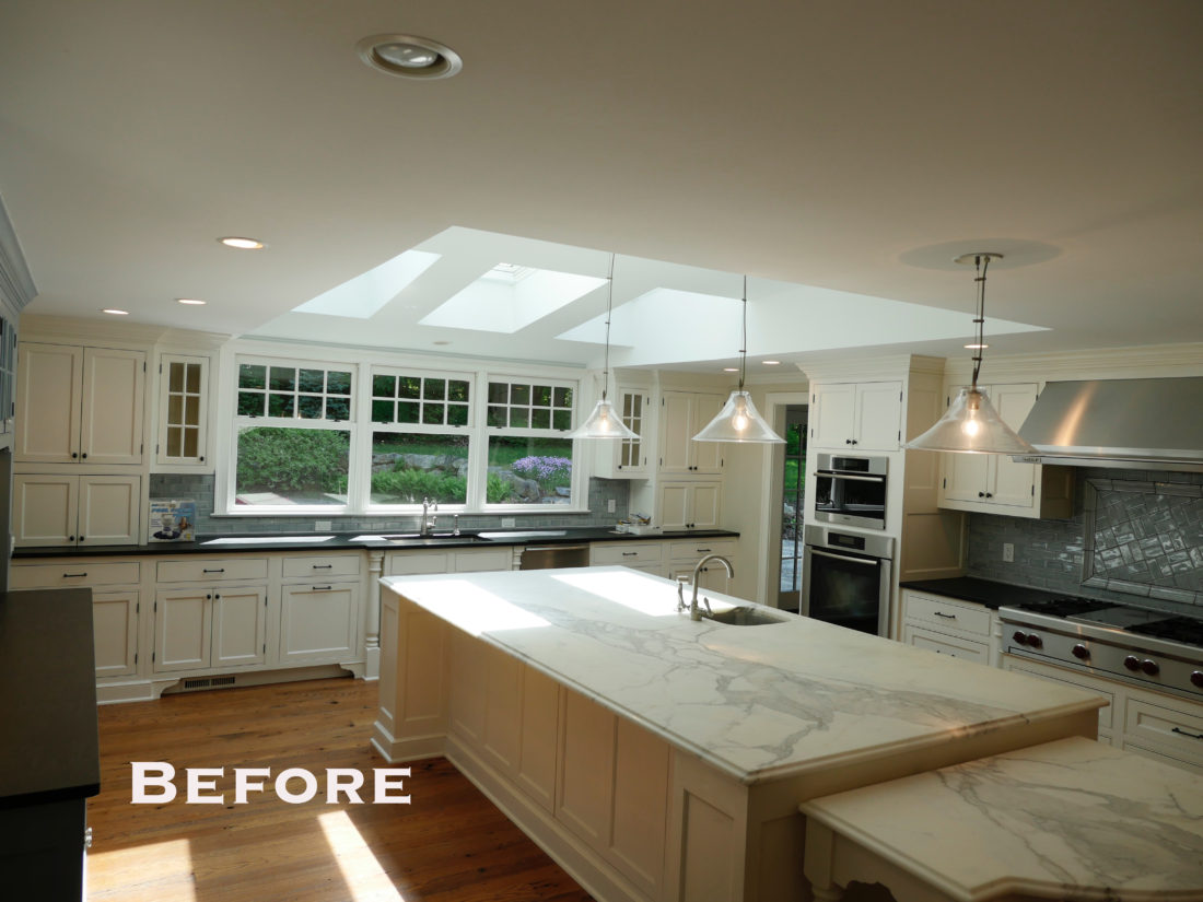 "The ""before"" shot of Eva Amurri Martino's Connecticut Kitchen before renovations"