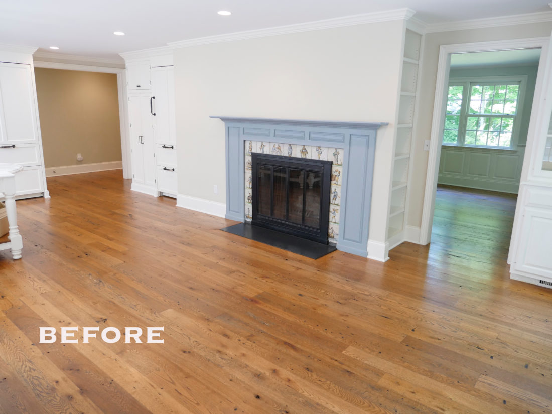"The ""before"" shot of Eva Amurri Martino's kitchen in connecticut before renovations"