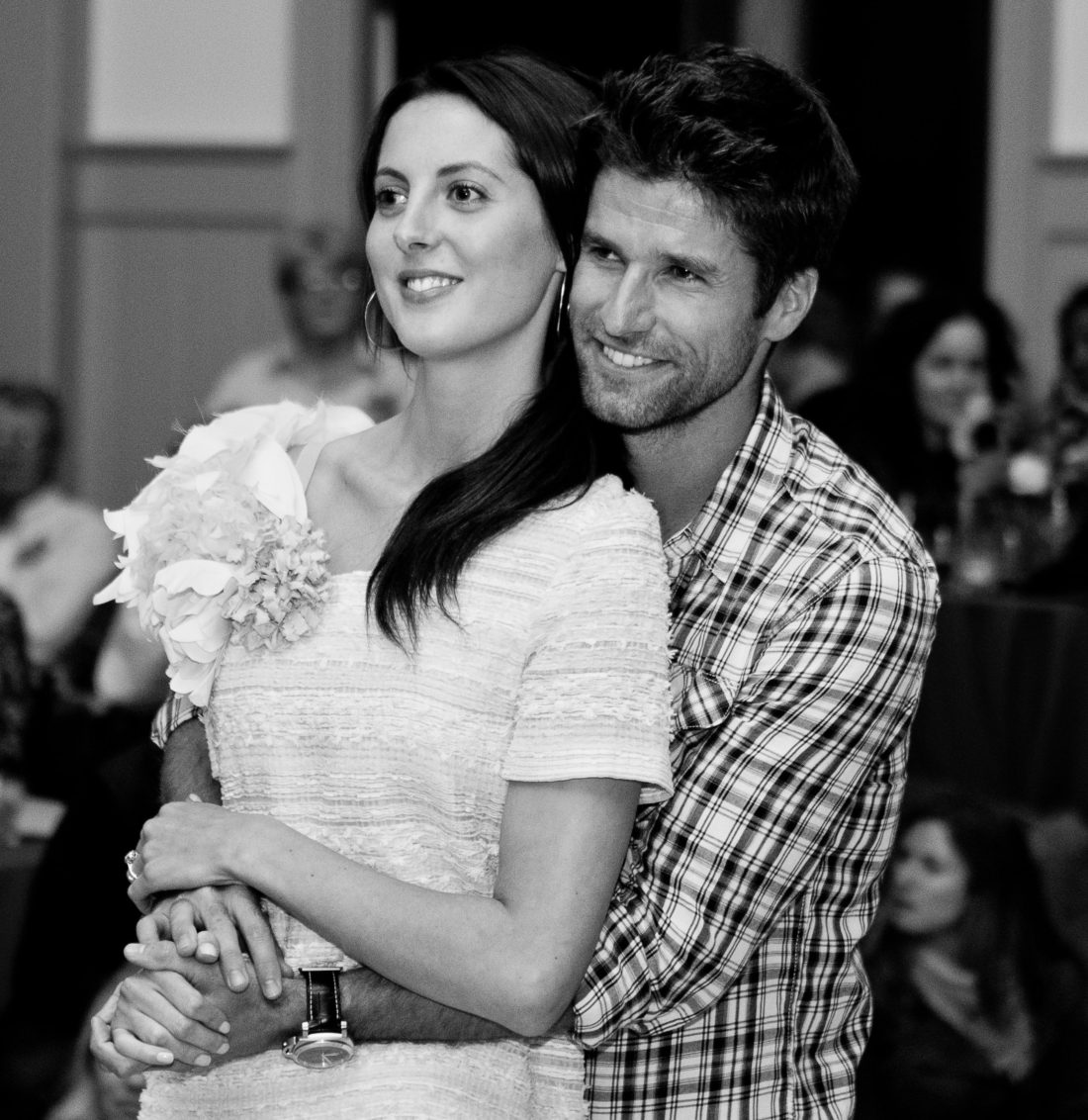 Eva Amurri Martino and husband Kyle Martino pictured embracing in 2011 the night before their wedding in charleston SC