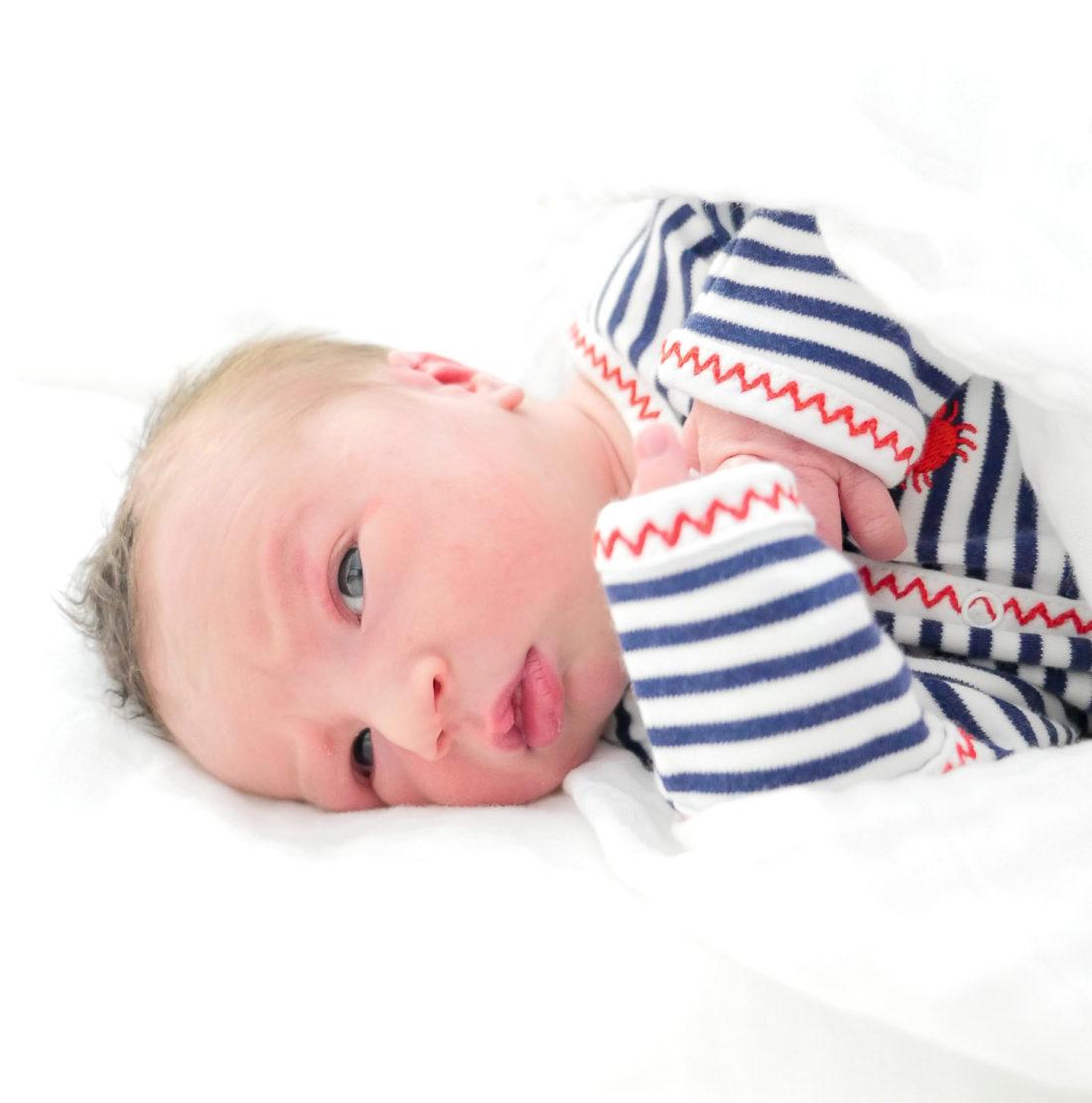Newborn Major James Martino, son of Eva Amurri Martino and Kyle Martino
