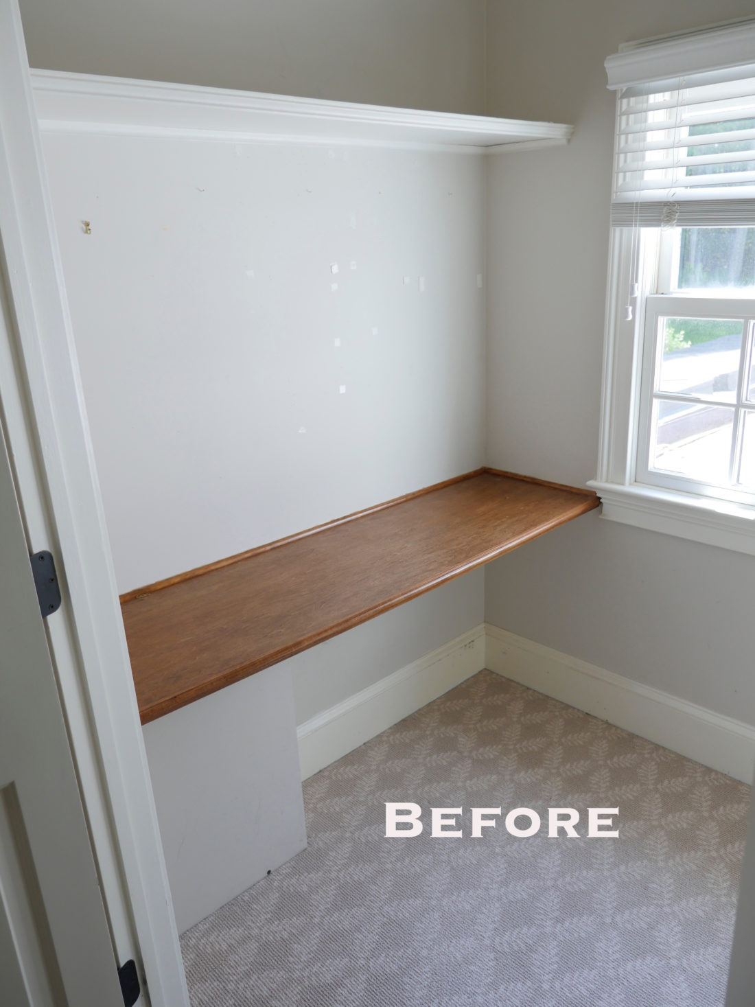 """The """"before"""" shot of Eva Amurri Martino's Glam Room reveal in her new connecticut home"""