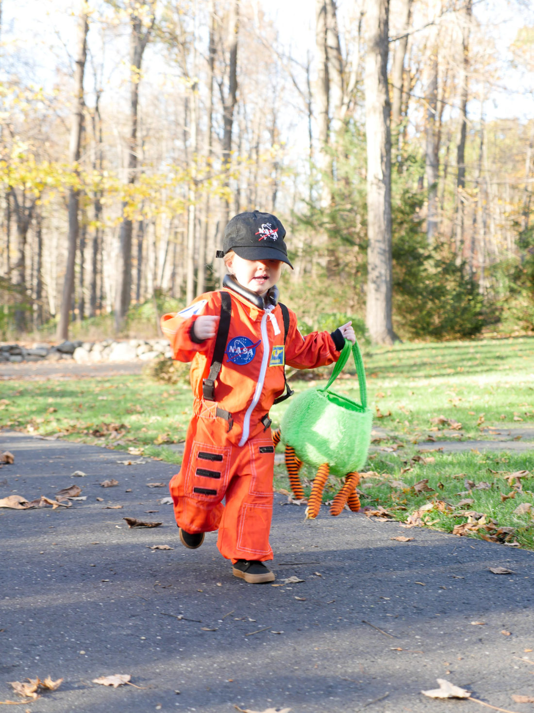 Marlowe Martino dressed as an Astronaut for Halloween