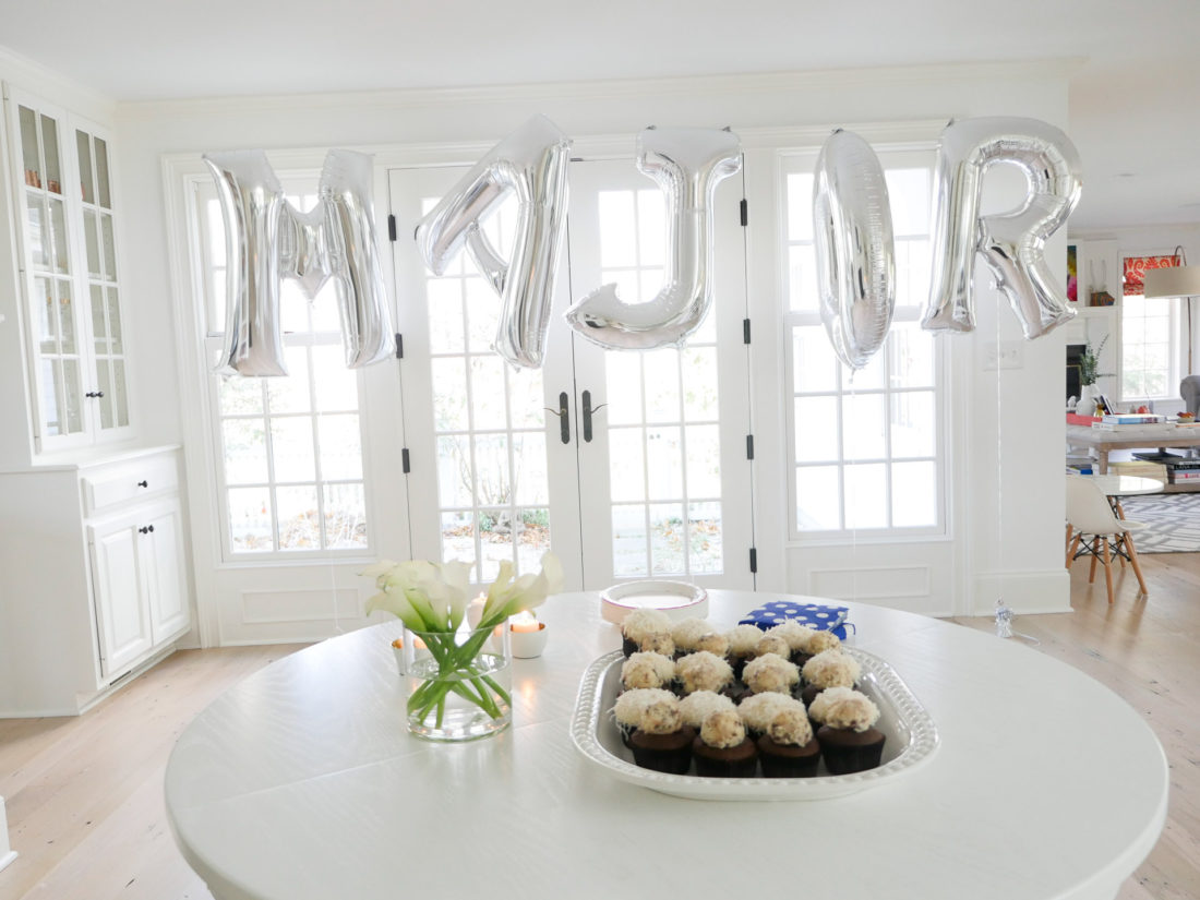 Eva Amurri Martino sets the scene for her son Major James' sip and see party