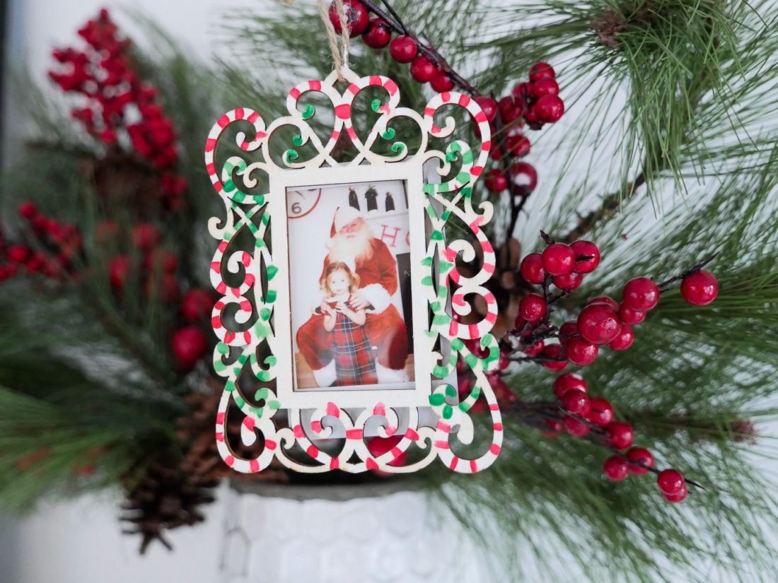 Eva Amurri Martino crafts DIY Holiday Photo ornaments