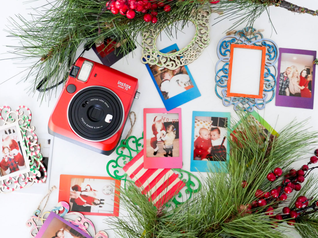 Eva Amurri Martino creates Holiday Photo Ornaments using the FUJIFILM Instax Mini 70 instant camera