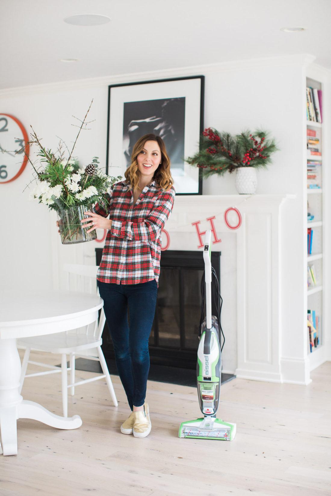 Eva Amurri Martino arranges Holiday florals as she prepares her home for a party