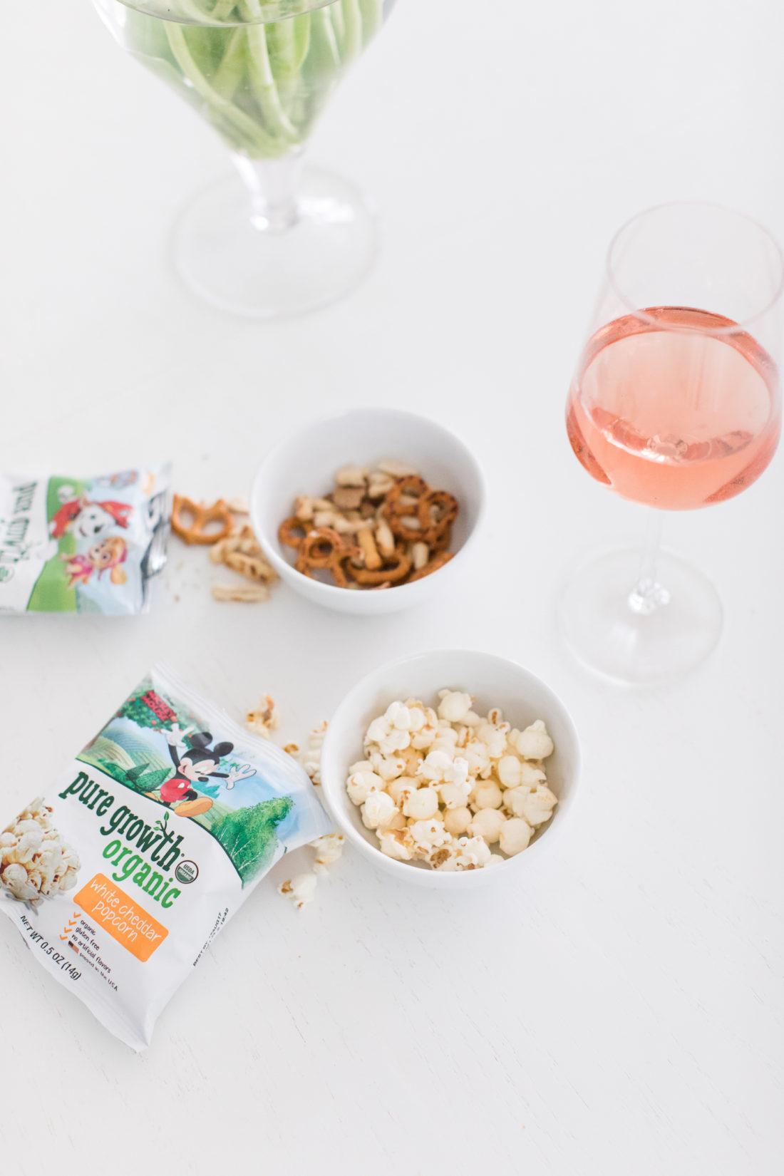 Eva Amurri Martino uses Pure Growth organic snacks as bar treats for Mama Happy Hour