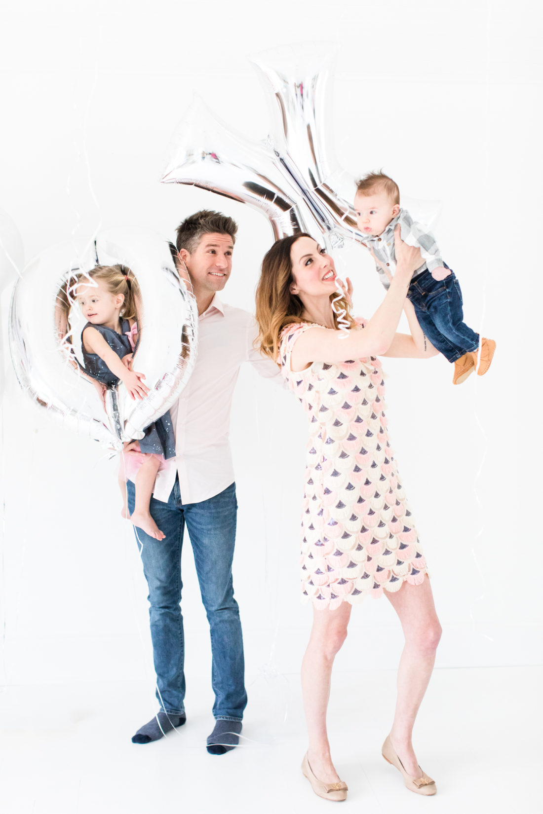 Eva Amurri Martino, Kyle Martino, and their children Marlowe and Major celebrate Valentine's Day at their home in Connecticut