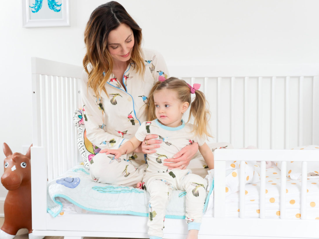 Eva Amurri Martino comforts daughter Marlowe in bed when she is sick