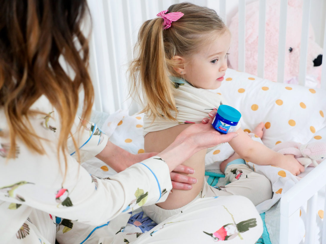 Eva Amurri Martino applies Vicks VapoRub to dauhter Marlowe's back