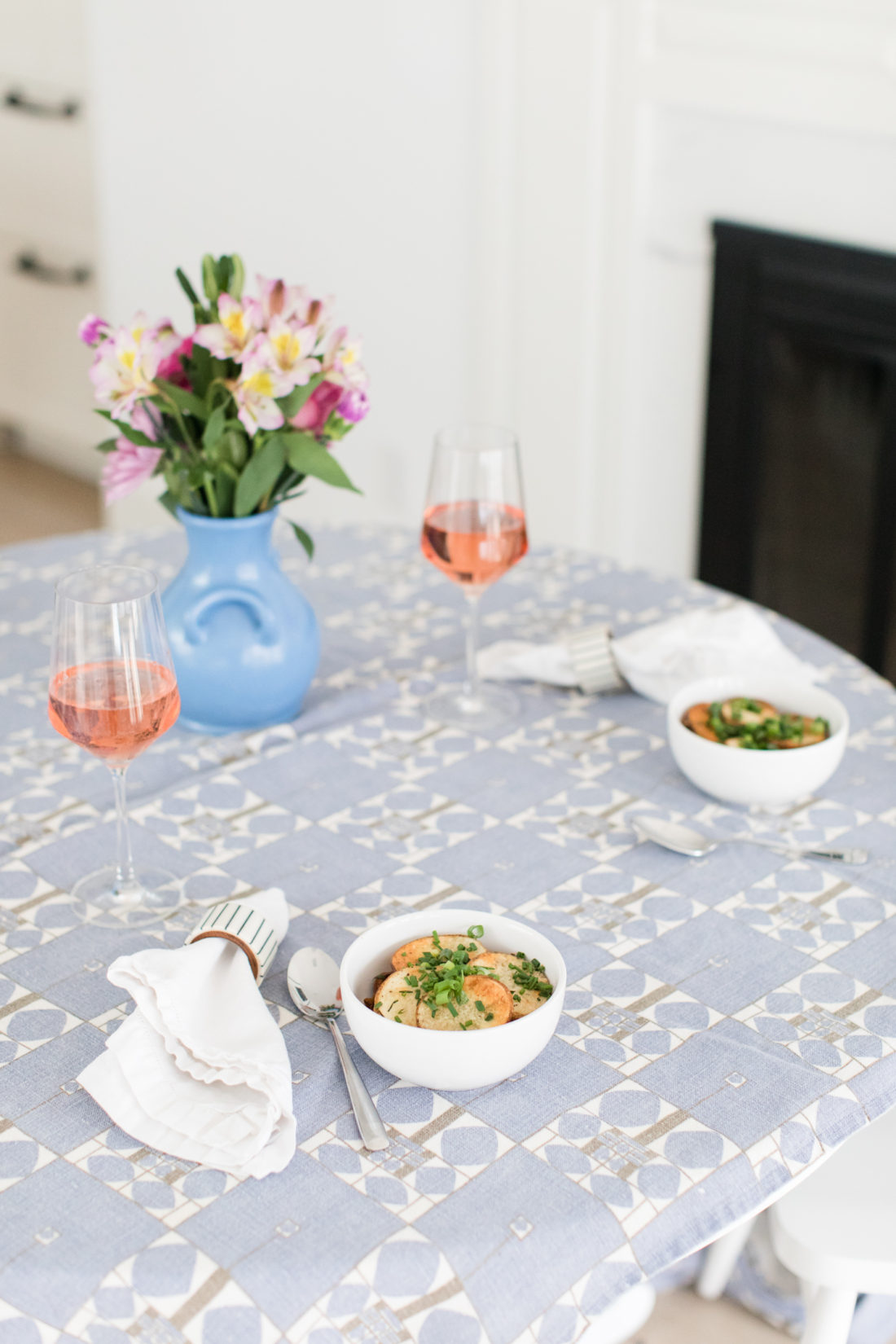 Eva Amurri Martino sets a simple and sweet scene for date night at home with her husband