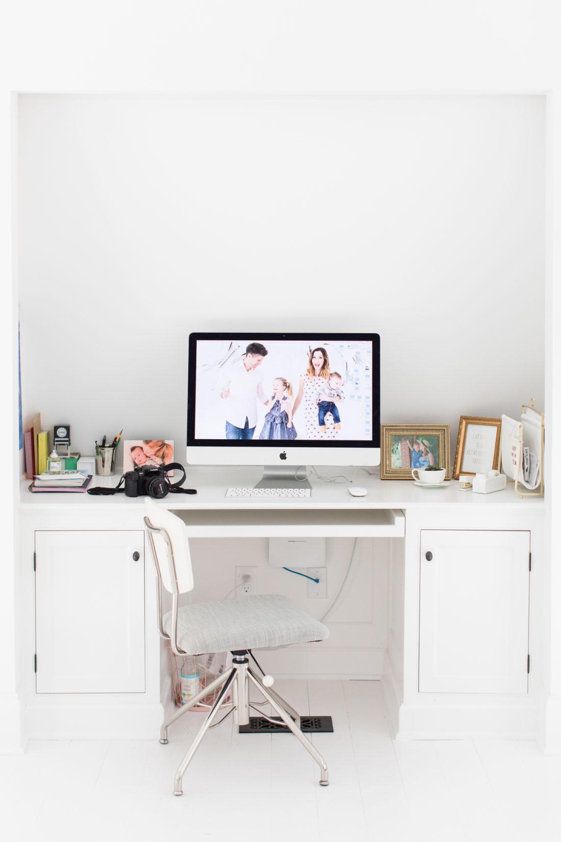 Eva Amurri Martino's desk in the Happily Eva After studio