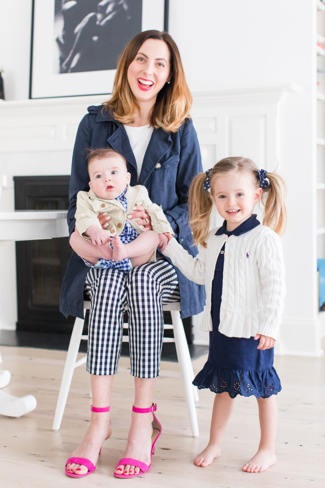 f3f788c13e507 Eva Amurri Martino of lifestyle and motherhood blog Happily Eva After, sits  in the kitchen