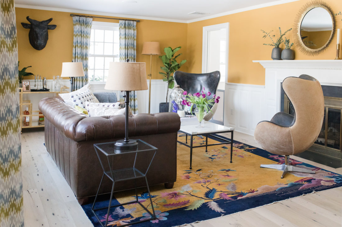 The elegant and glamorous formal living room in Eva Amurri Martino's Connecticut home