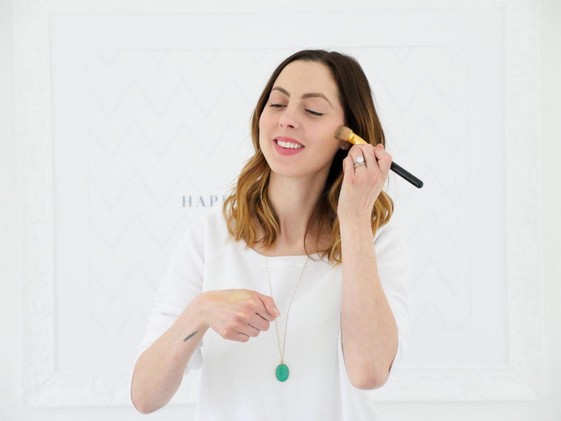 Eva Amurri Martino applies Armani Beauty foundation