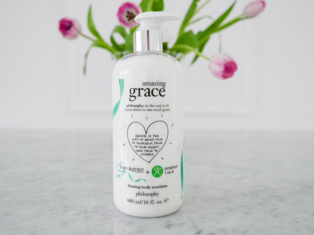 Eva Amurri Martino features Philosophy's Amazing Grace body cream in honor of Mental Health Month