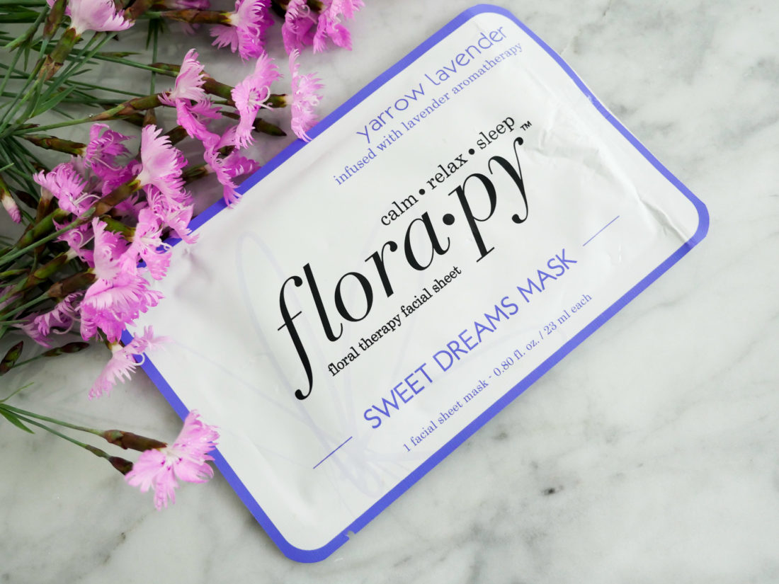 Eva Amurri Martino shows off a Florapy beauty sheet mask