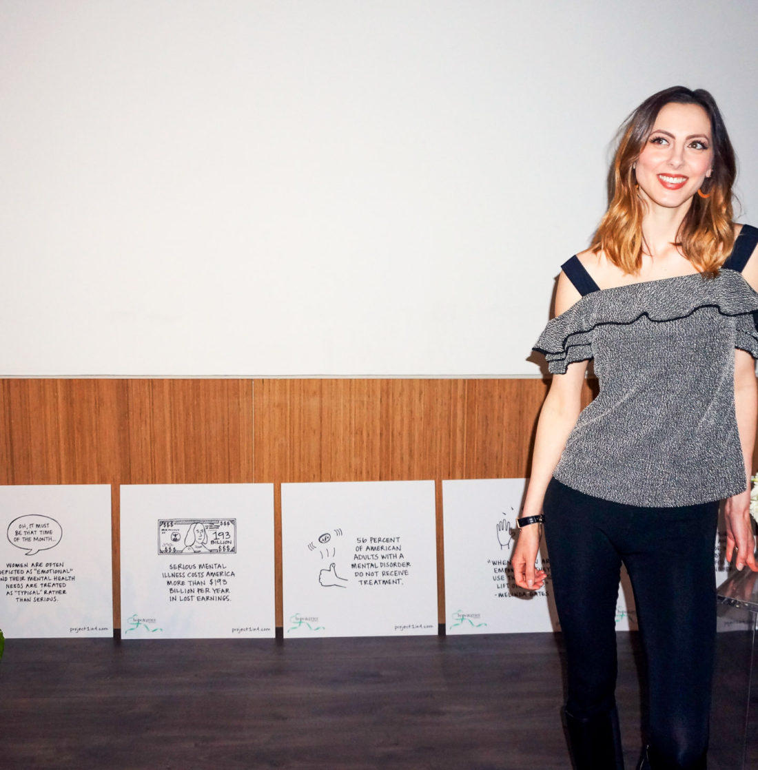 Eva Amurri Martino stands in The environment at Philosphy's Amazing Grace press day for the Hope and Grace initiative benefitting Mental Health awareness and support