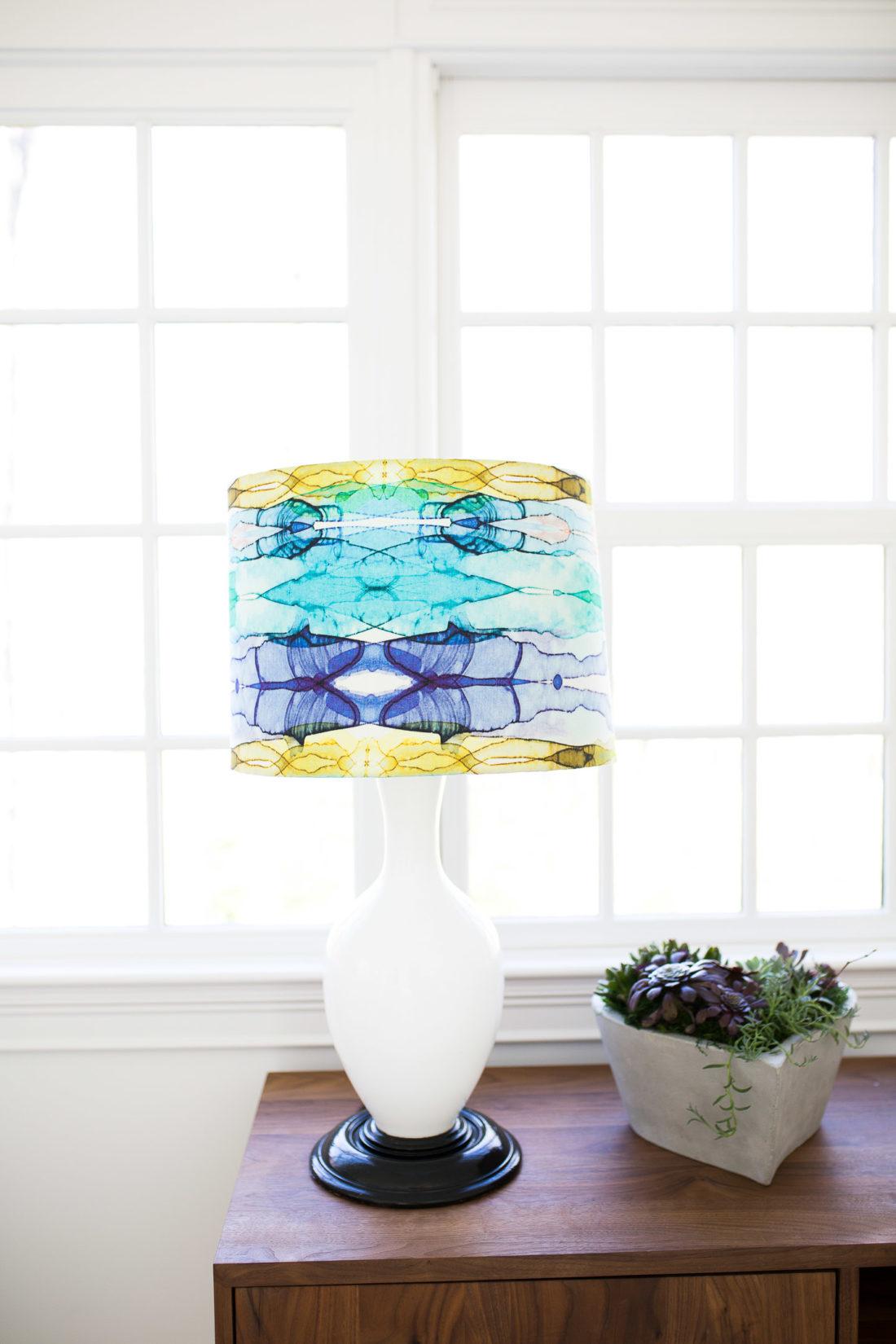 A multicolored lamp in Eva Amurri Martino's Happily Eva After studio
