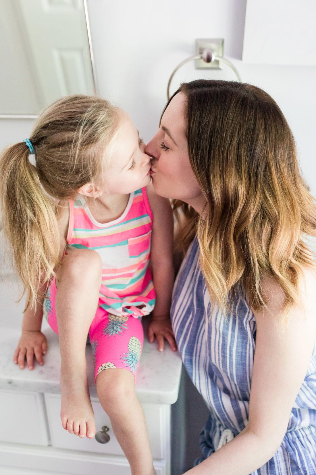 Eva Amurri Martino kisses her two year old daughter, Marlowe
