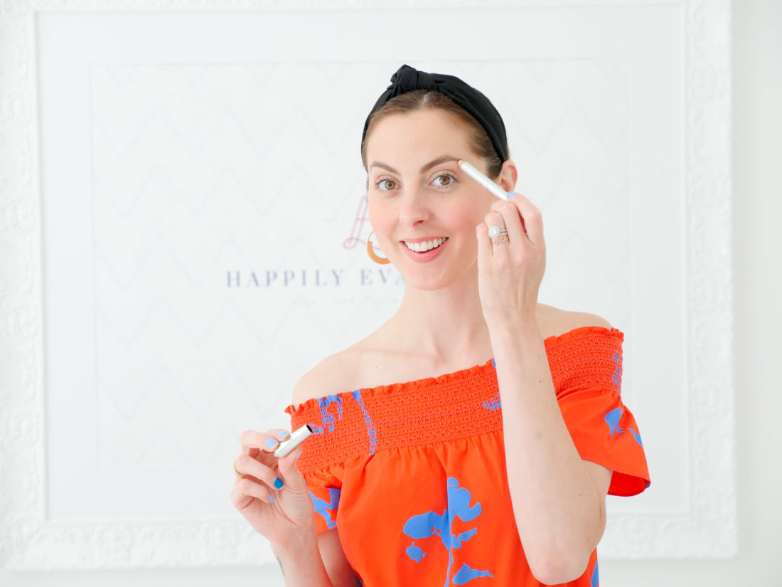 Eva Amurri Martino shows off Benefit High Brow eyebrow highlighter as part of her monthly obsessions roundup