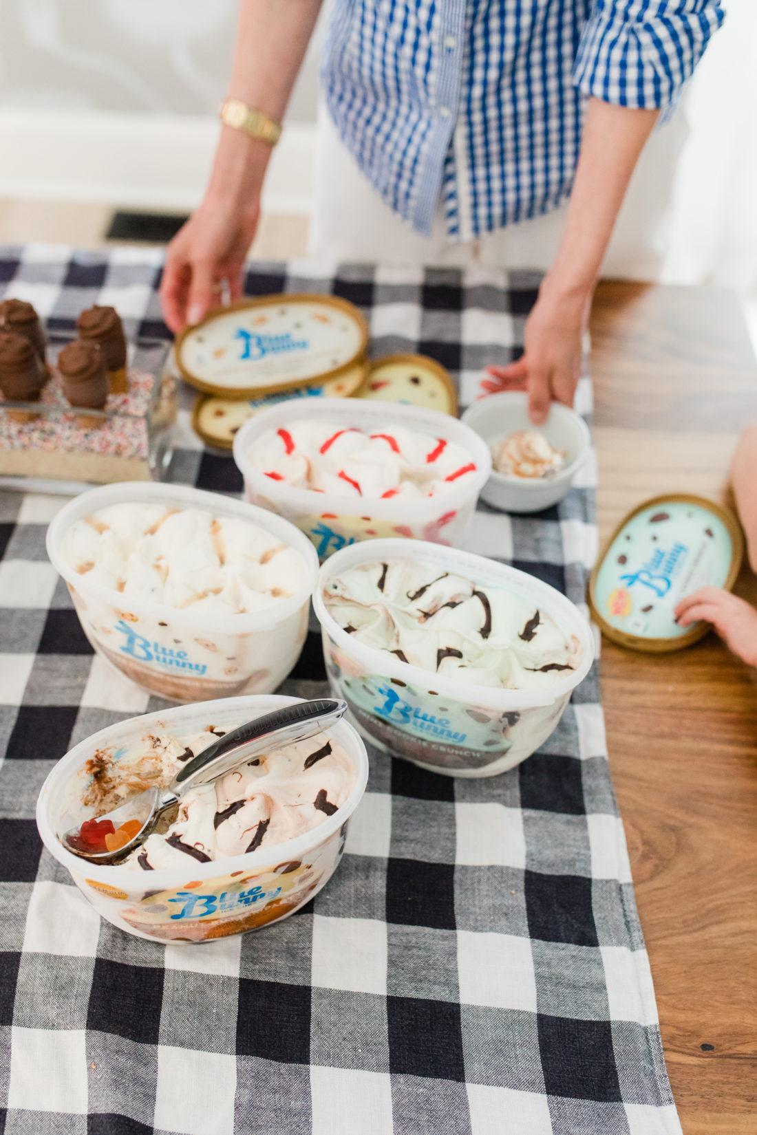 Eva Amurri Martino throws a family friendly ice cream social at her Connecticut home with Blue Bunny ice cream