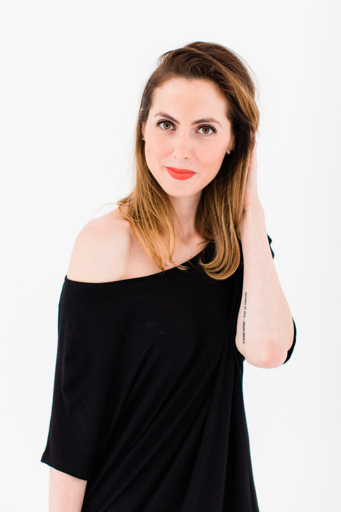 Eva Amurri Martino wears an LBD Buru dress