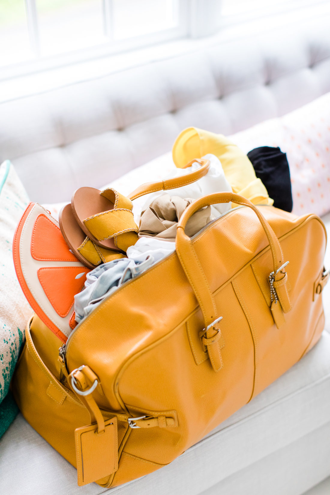 Eva Amurri Martino packs a suitcase with just six pieces