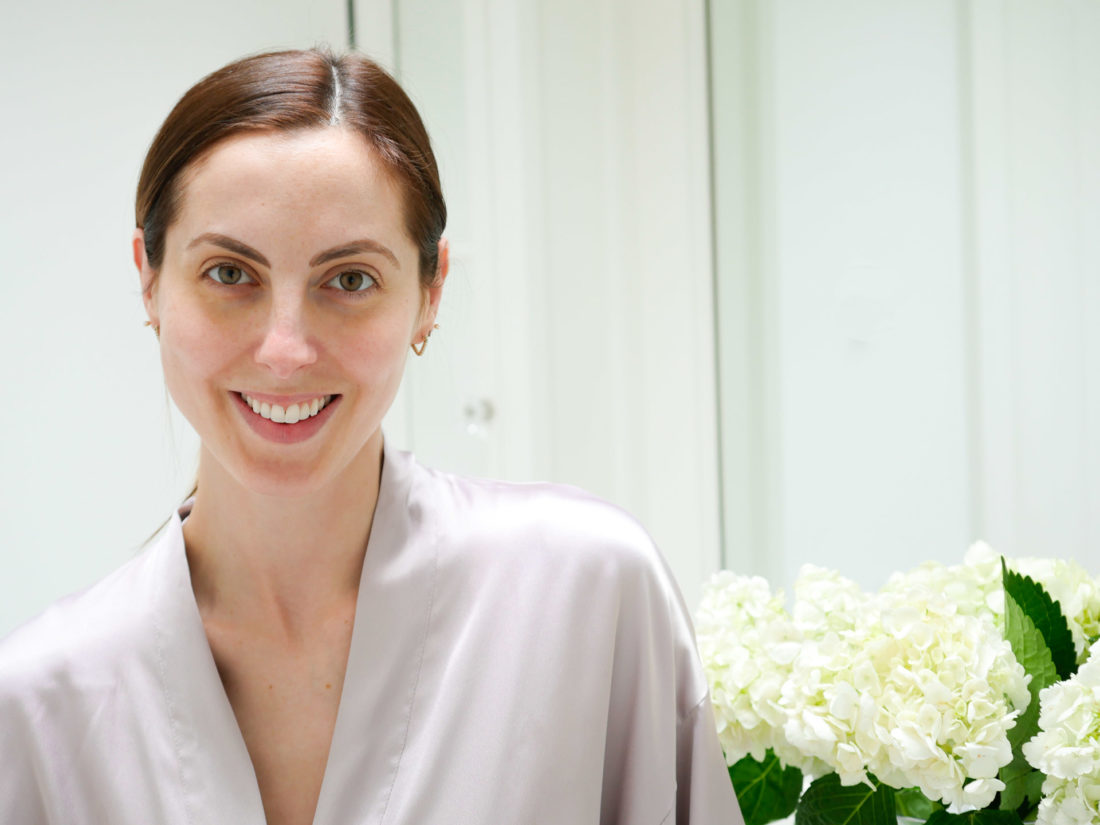 Eva Amurri Martino shows her bare skin before the 30 day SKII Facial Treatment Essence challenge