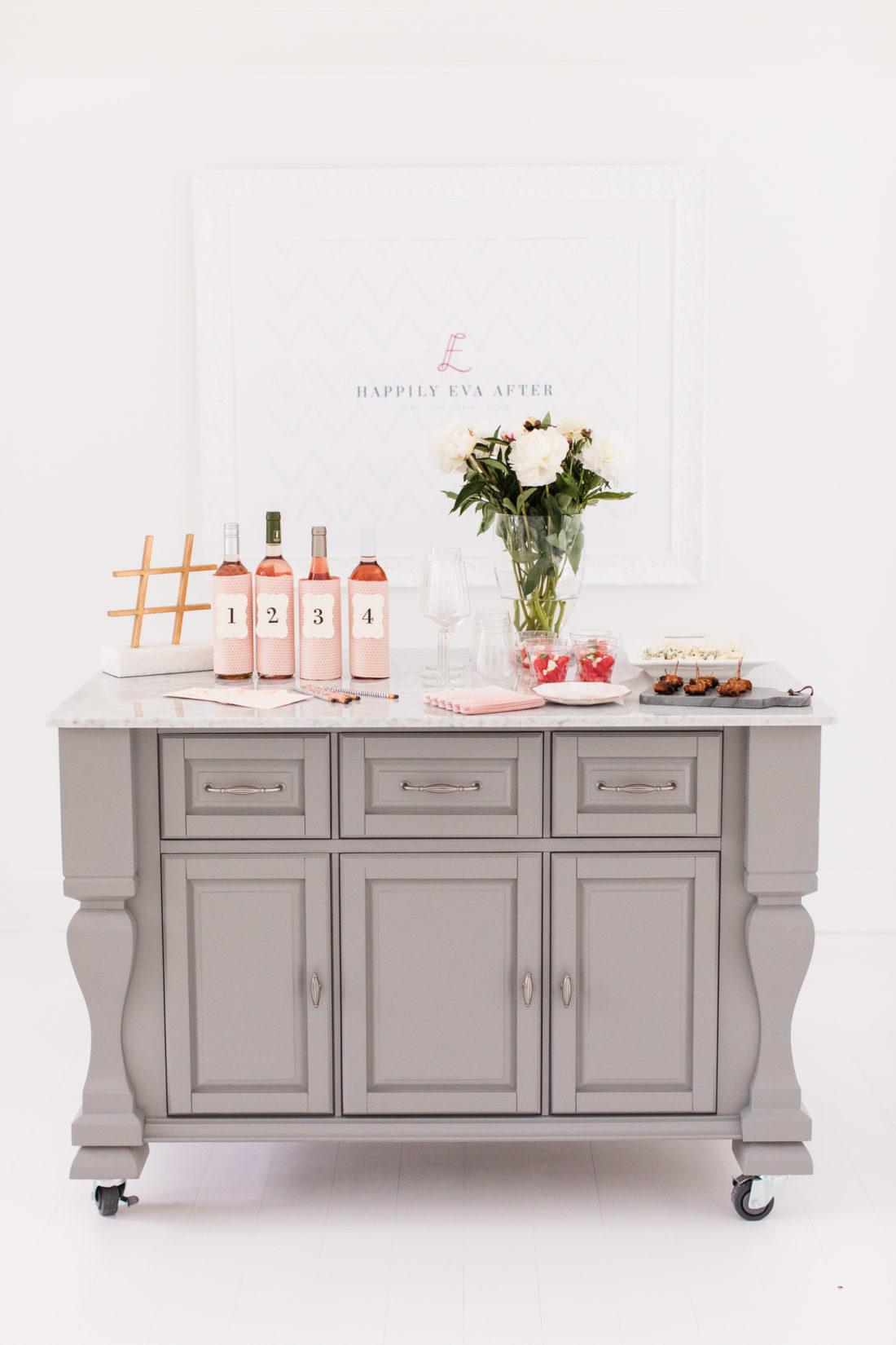 Eva Amurri Martino hosts a fun and feminine Rosé tasting party at her Connecticut home