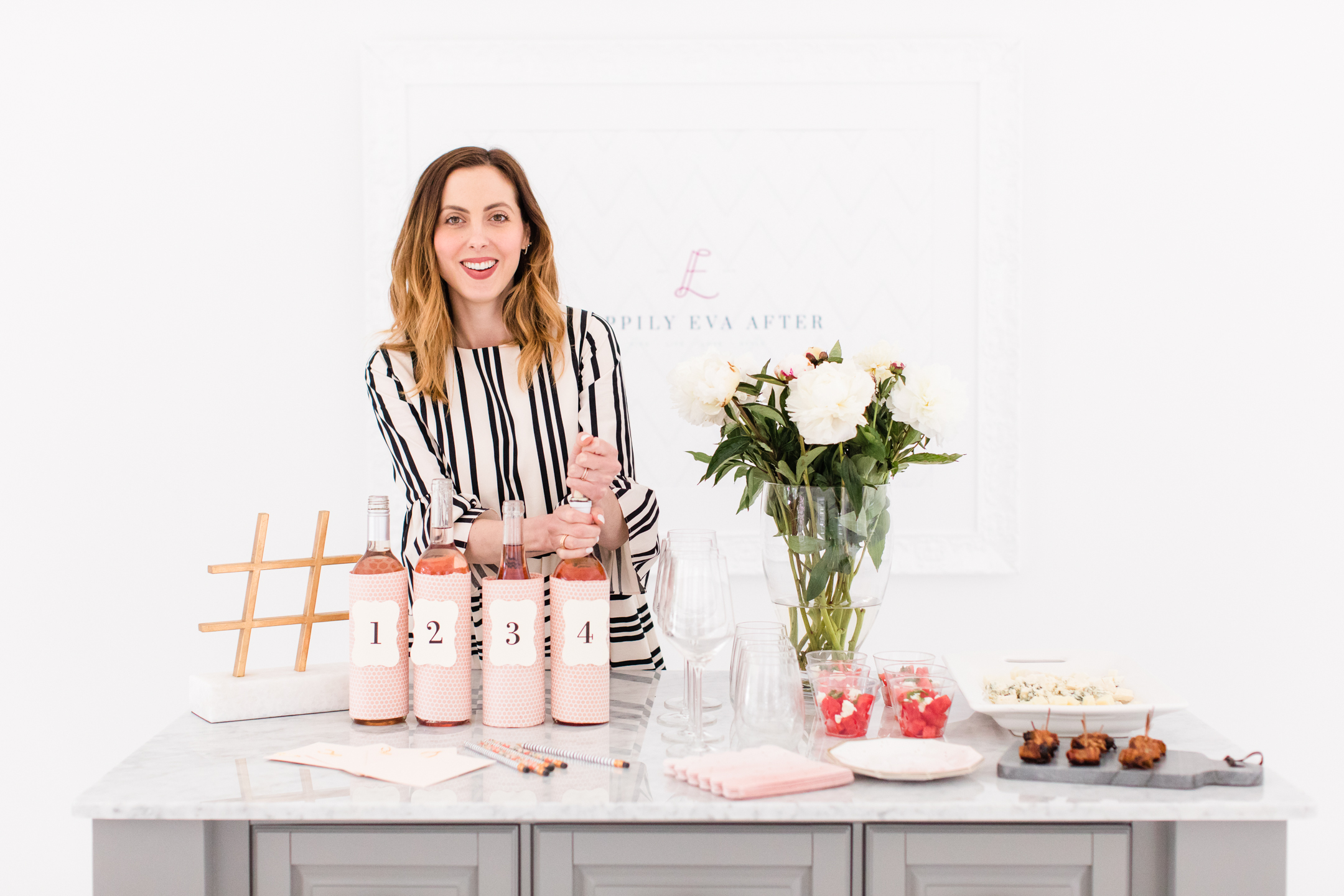 Eva Amurri hosts a Rosé Tasting Party at her Connecticut home
