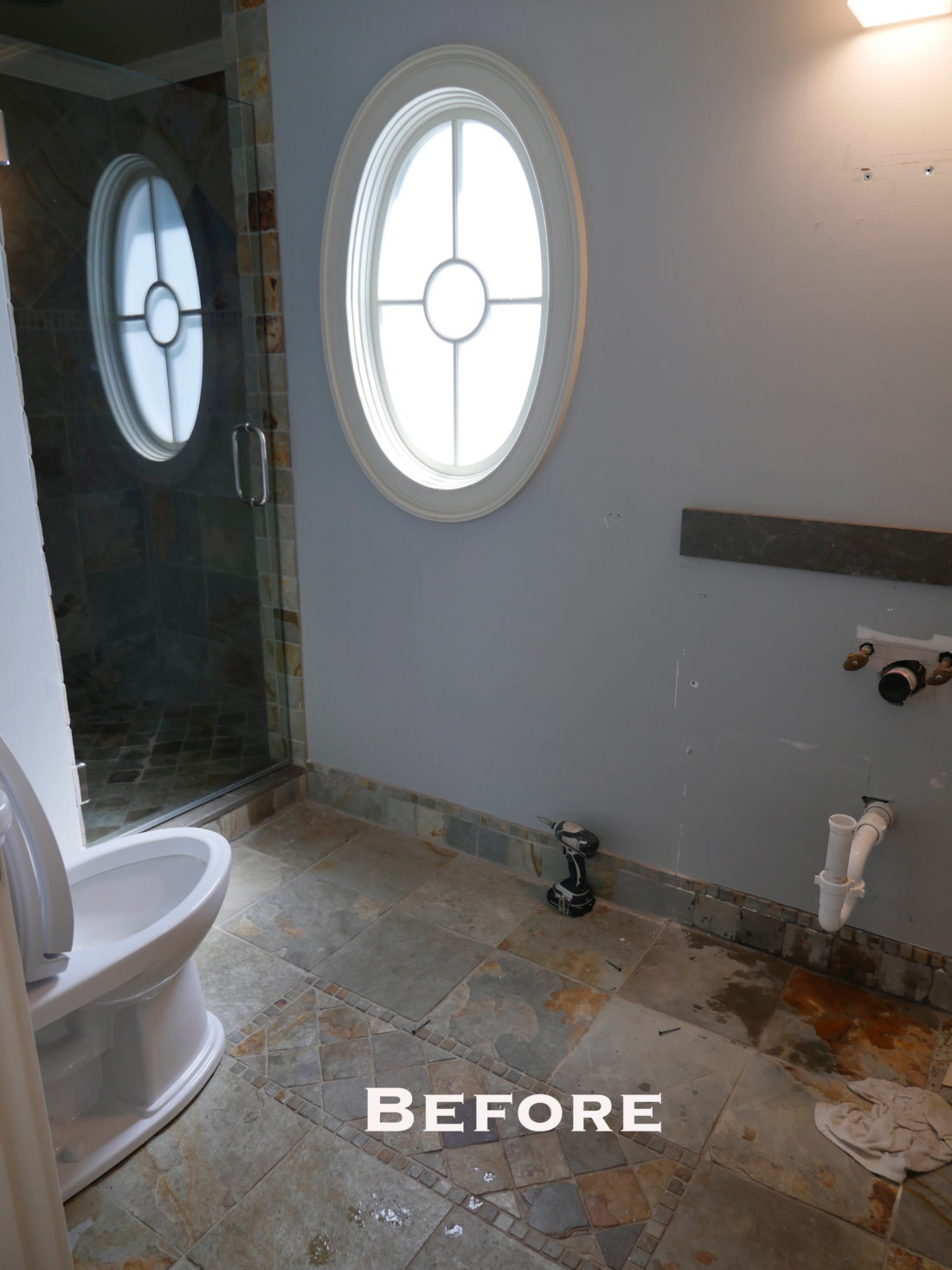 "Eva Amurri Martino shares the ""before"" picture of her Connecticut powder room"