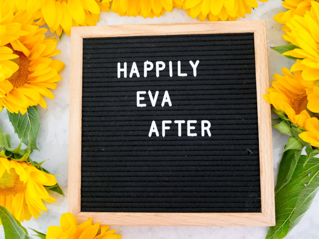Eva Amurri Martino includes a wood and black felt letter board as part of her monthly obesessions roundup for September