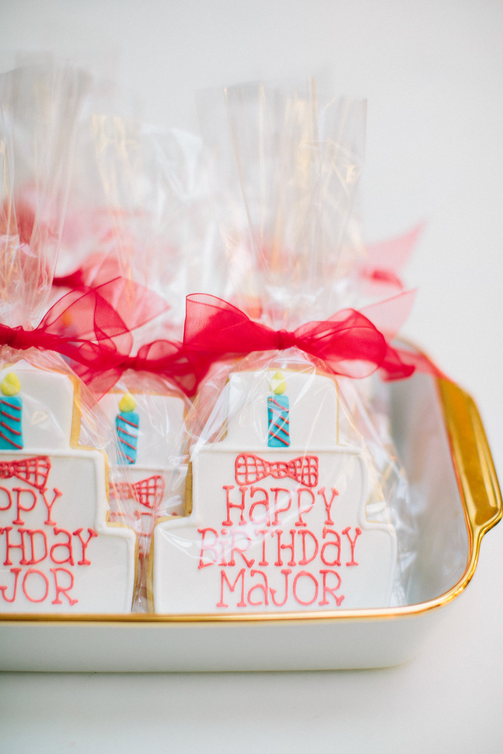 custom cookie favors for guests at Major Martino's first birthday party