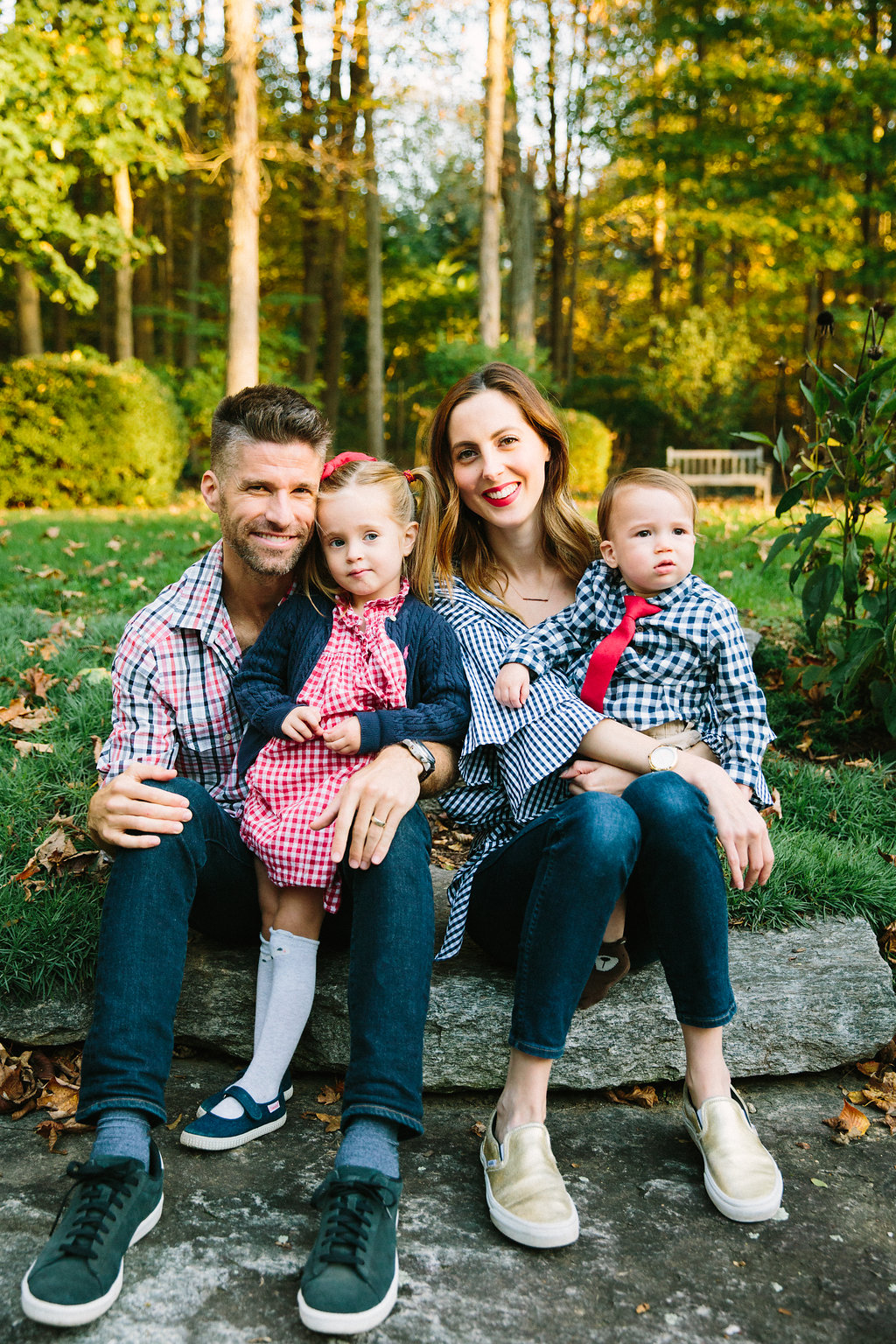 Eva, Kyle, Marlowe, and Major Martino celebrate Major's first birthday at their home in Connecticut