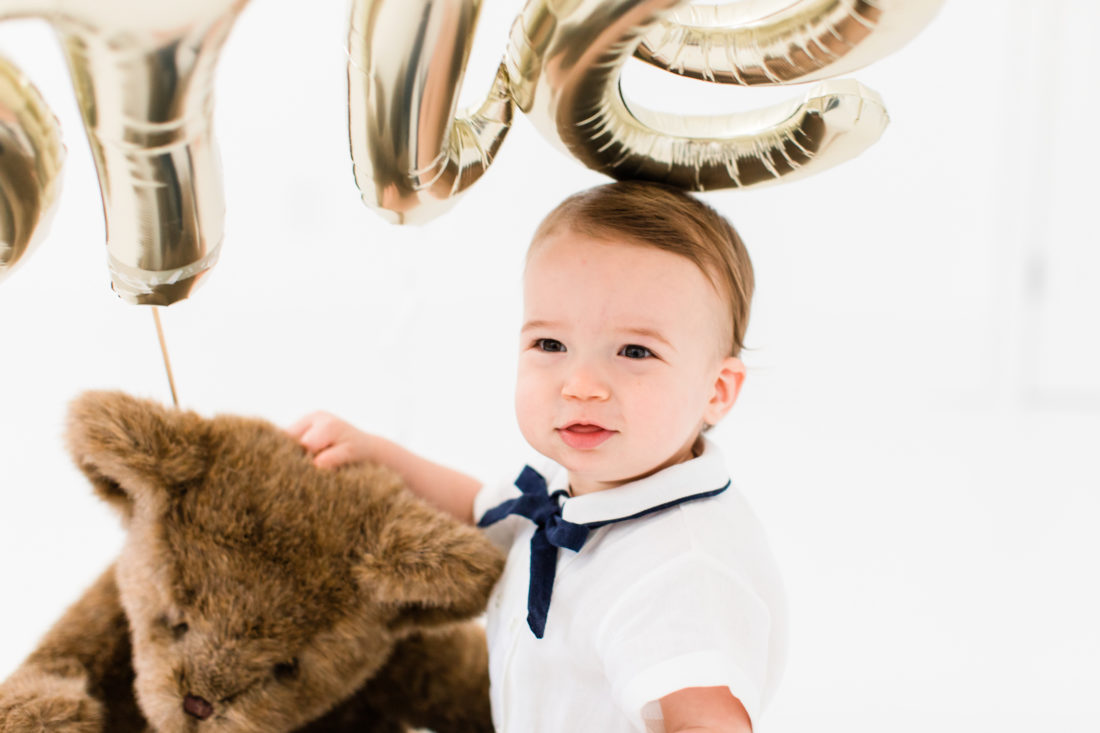 Major Martino wears a vintage suit to celebrate his first birthday