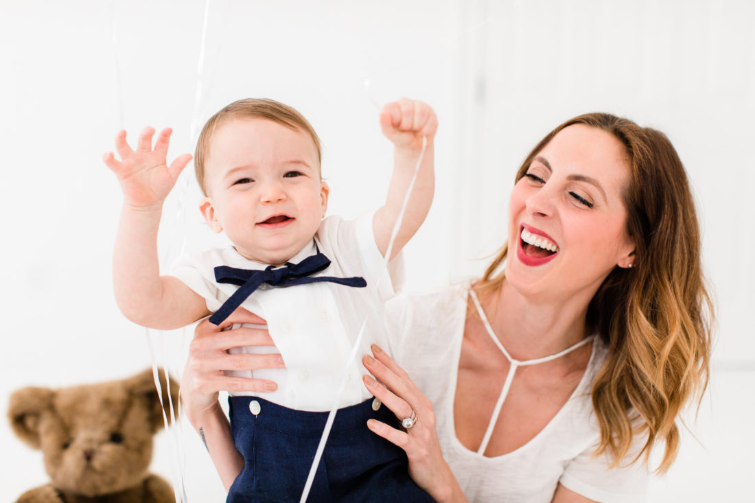 Eva Amurri Martino laughs with one year old son, Major James