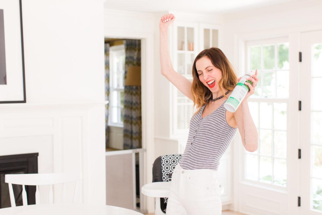 Eva Amurri Martino celebrates her clean, disinfected kitchen