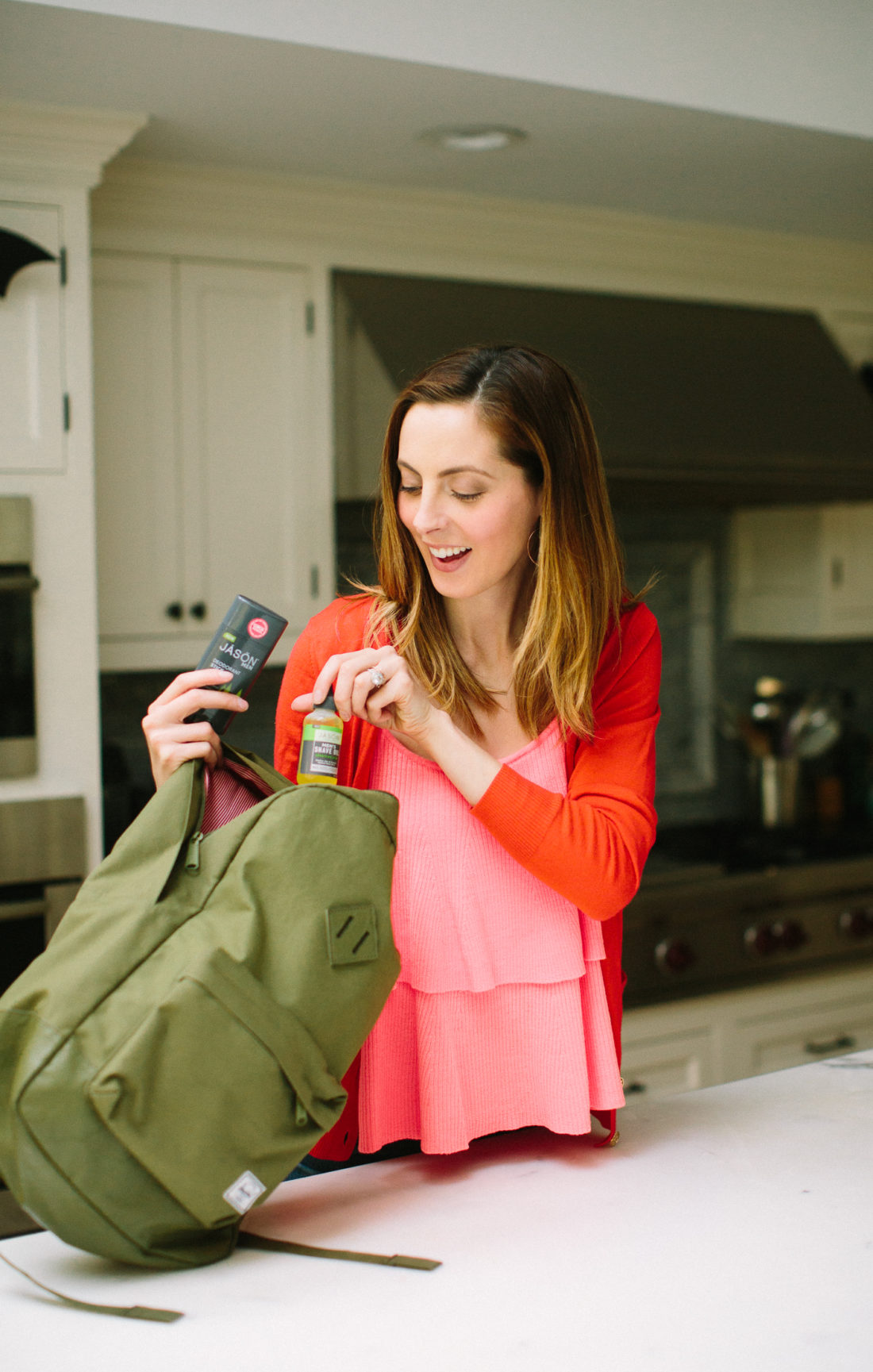 Eva Amurri Martino puts together a fully loaded gym bag for her husband as a gift