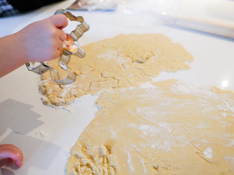 Marlowe Martino makes sugar cookies for Santa