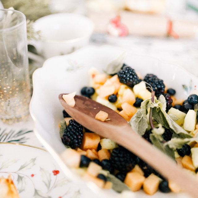 Eva Amurri shares a Chris-Mint Fruit Salad for Christmas Day Brunch