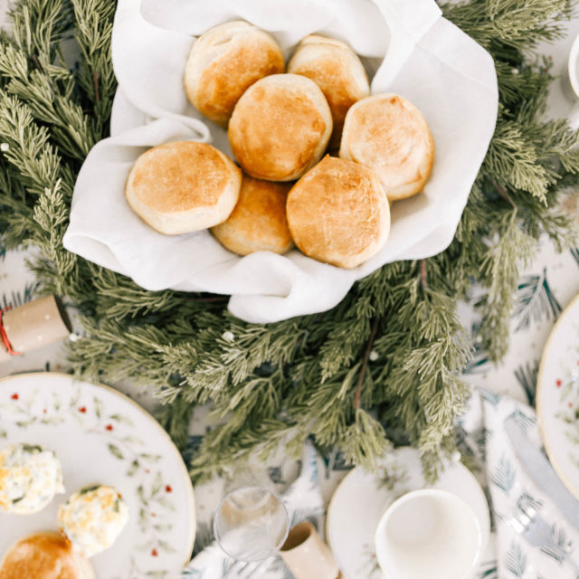 Eva Amurri shares the decor and details of her grandmother's christmas china as part of her christmas day brunch