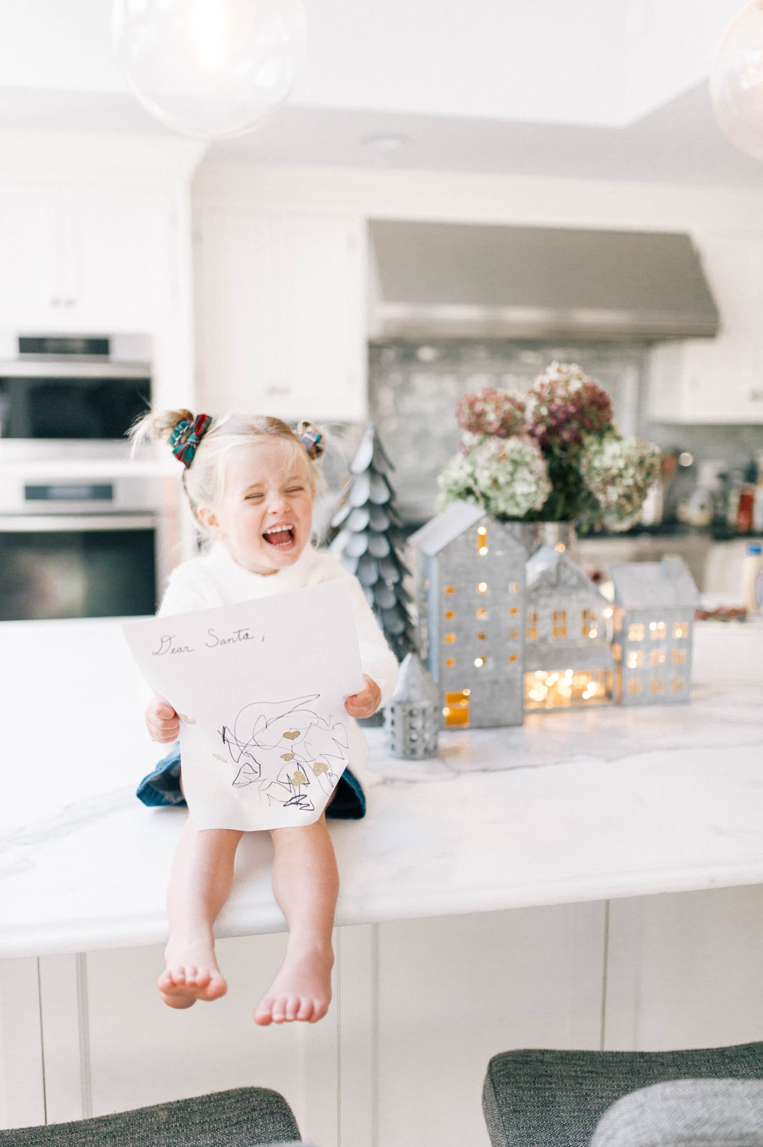 Marlowe Martino shows off her letter to Santa