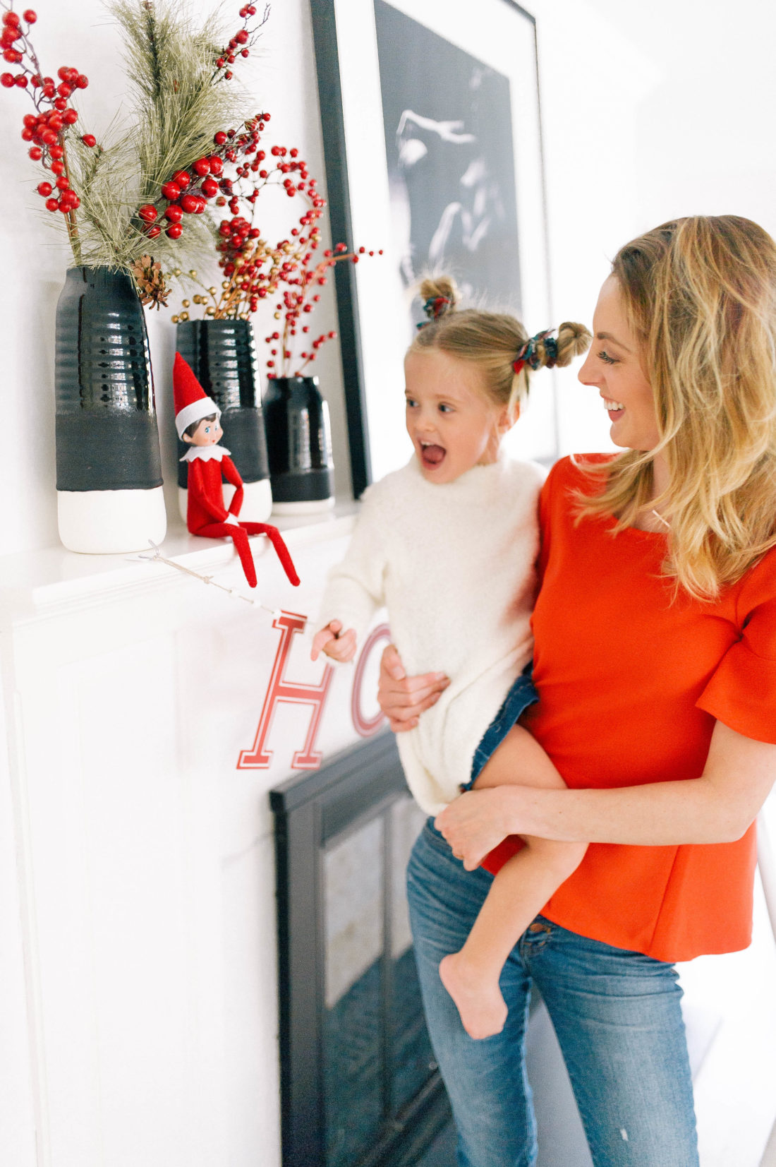 Eva Amurri Martino introduces the Elf On The Shelf tradition to her kids