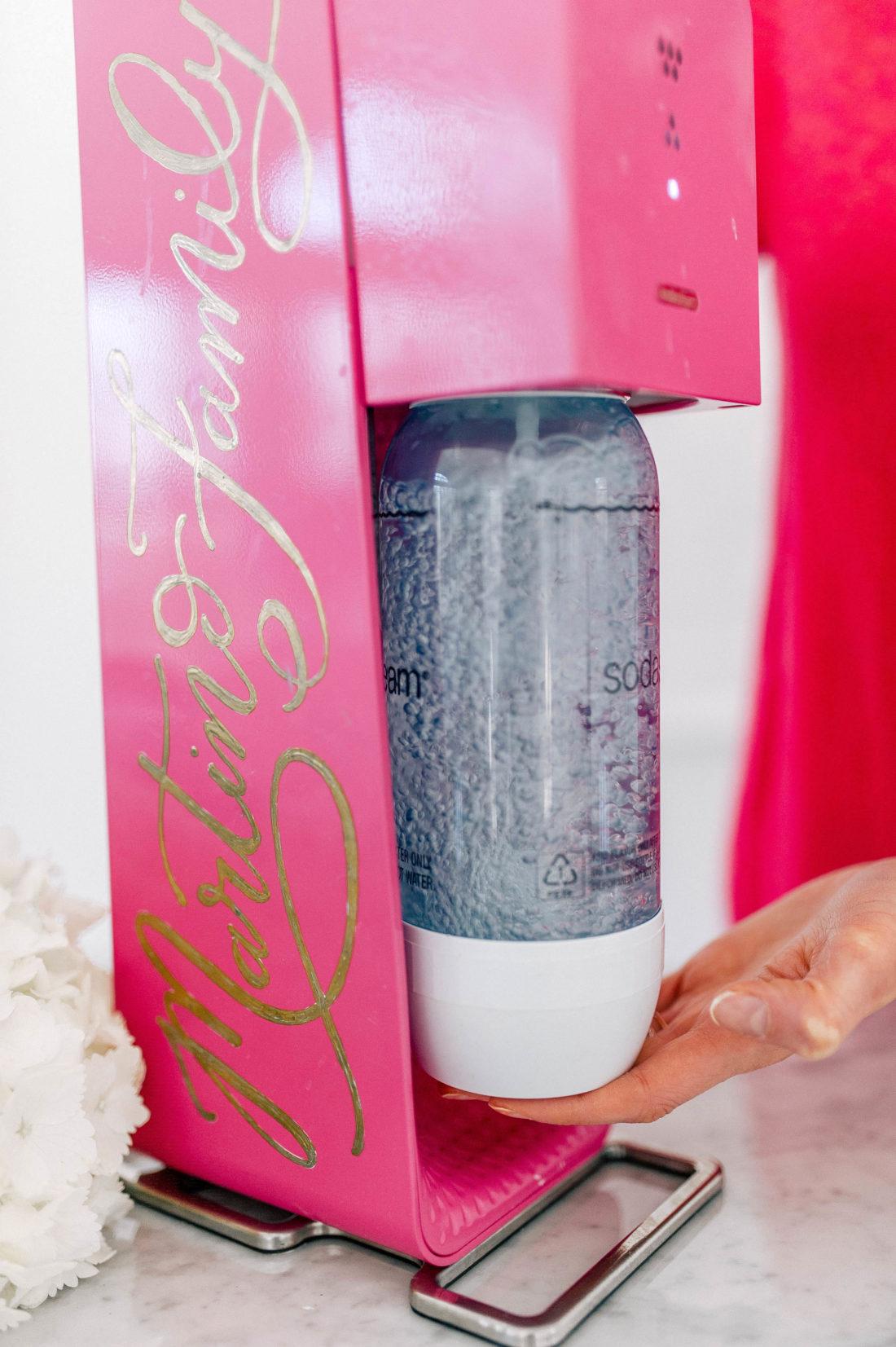 Eva Amurri Martino uses her Soda Stream sparkling water maker in the studio of her Connecticut home